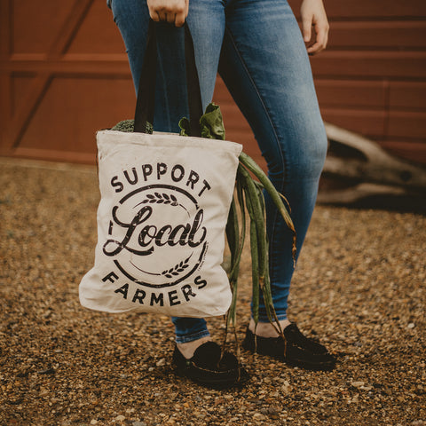 Canvas Totes - Support Local Farmers