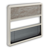 PLEATED BLIND FOR S7P  WINDOW This combination of a single pleated darkening screen and a fly screen is specially designed for use with Dometic's S7P windows