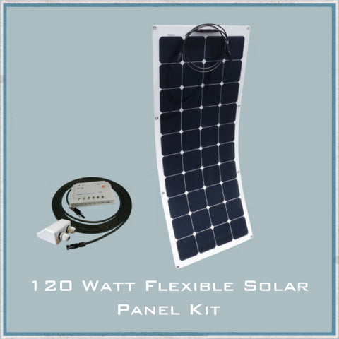 120W Flexible Solar Panel Camper Van, Caravan & Motorhome Kit