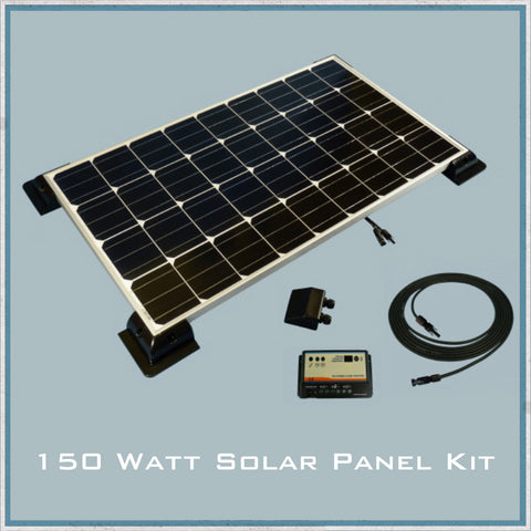 150W Solar Panel Caravan & Motorhome Kit