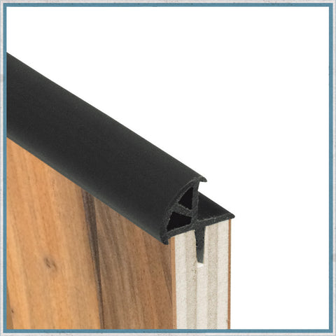 15mm Cushioned Door Edge Knock-on Trim for camper van and motorhome conversions