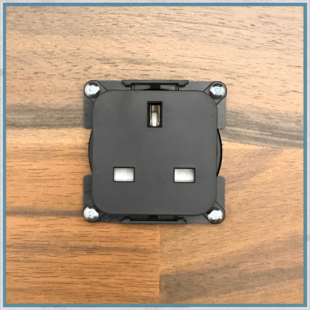 230v Socket Insert for Campervans and Motorhomes