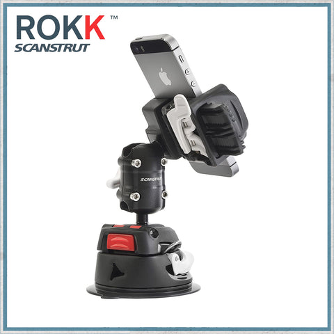 Phone clamp + Adjustable body + Suction cup base for ROKK mini modular system