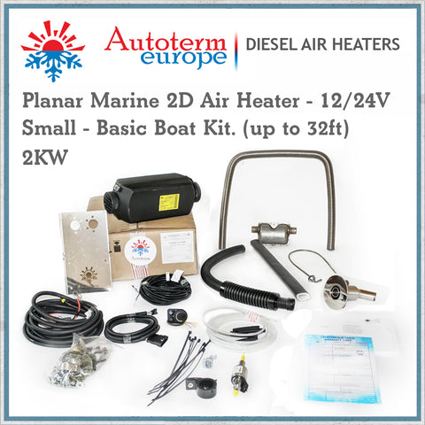 2KW Autoterm Planar Diesel Air Heater - Small Marine Kit