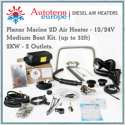 2kw Autoterm Planar Medium marine kit