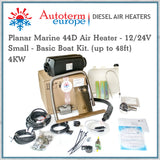 Autoterm Planar 44D Diesel Air Heater - Small 4KW Marine Kit