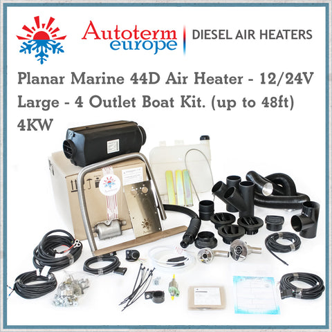Autoterm Planar 44D Diesel Air Heater - Large 4KW Marine Kit