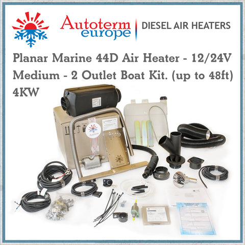 Autoterm Planar 4Kw heater medium boat kit