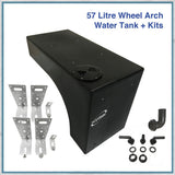 Campervan 57 Litre Wheel Arch Water Tank with fitting and plumbing kits