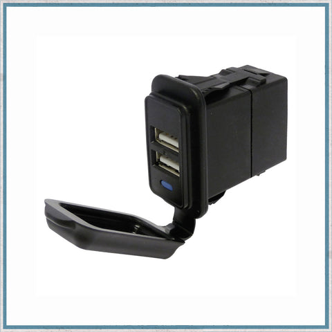 5A Waterproof Dual Port USB Socket 12V / 24V
