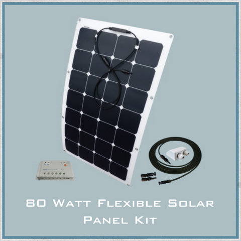 80W Flexible Solar Panel Camper Van, Caravan & Motorhome Kit