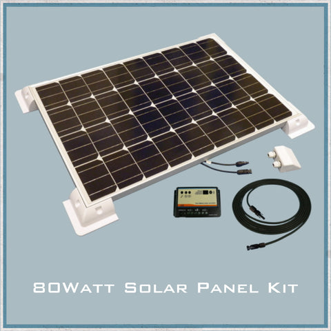 80W Solar Panel Caravan & Motorhome Kit