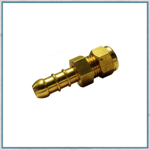 8mm Brass Nozzle for Flexible Gas Pipe for Camper Van, Motorhome & Caravan