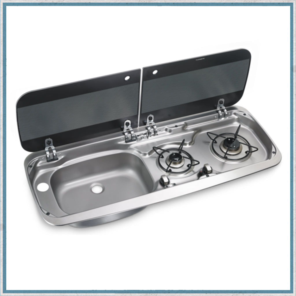 Smev 9222 Dometic HSG 2370 combination left hand sink and 2 burner hob unit