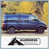 Aluminess Mercedes-Benz Sprinter, VW Crafter Low Roof Ladder Right Hand Drive