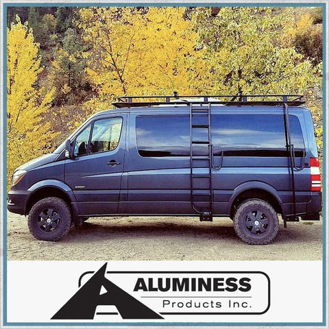 Aluminess low Roof Mercedes-Benz Sprinter, VW Crafter Roof Rack