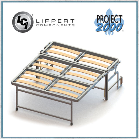 Project 2000 Dinette Seat Bed opened