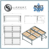 Project 2000 Dinette Seat Bed open directions
