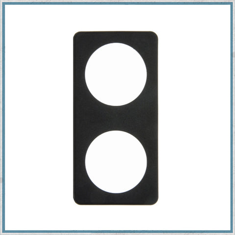 Berker Socket Double Surround (black)