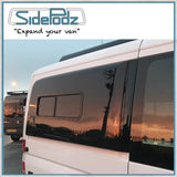 Sidepodz fitted with CR Laurence bunk window