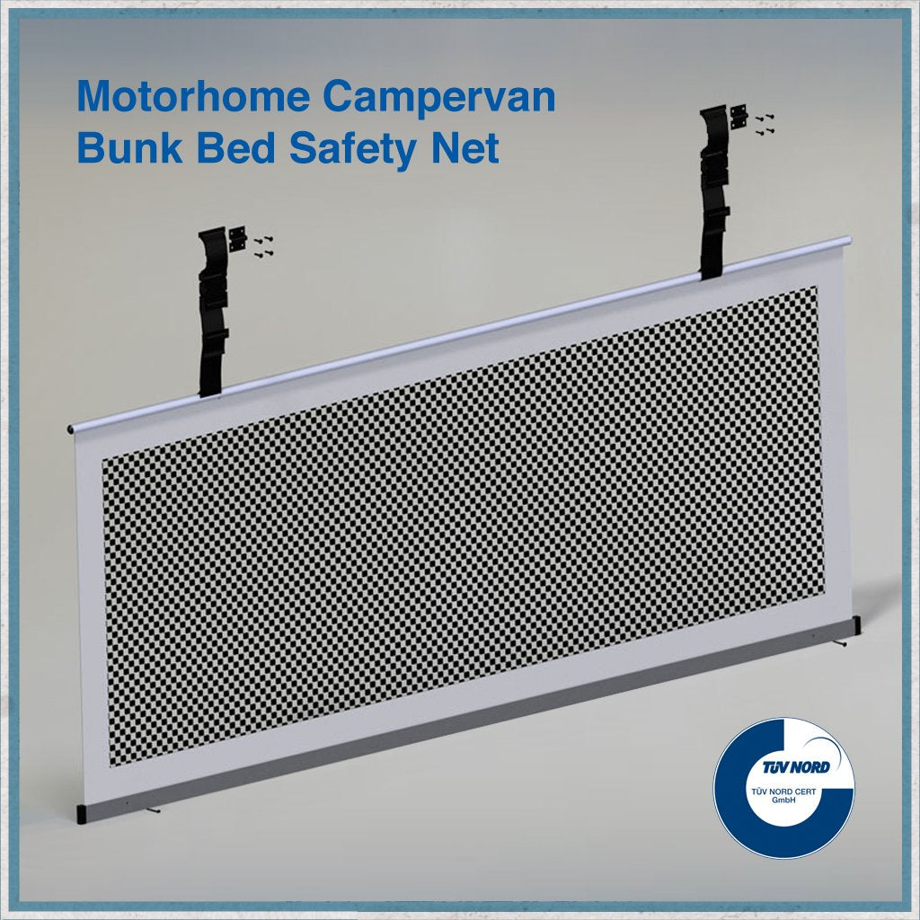 bunk bed motorhome safety net