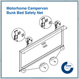 bunk bed motorhome safety net sizes