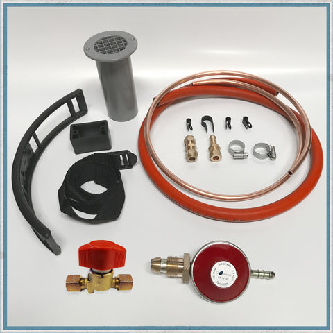 Basic Propane Gas Fitting Kits for Camper Van Hobs and Combination Units