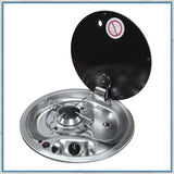 Can FC1345 Single Burner Gas Hob with Glass Lid