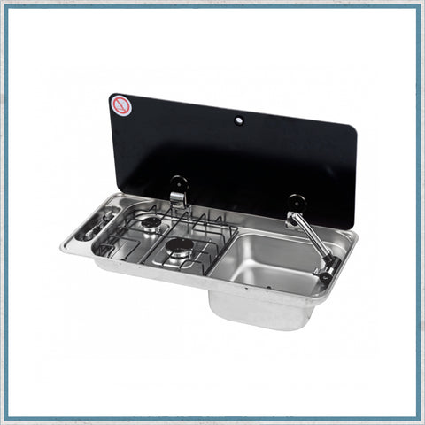 CAN FL1400 Twin Burner Hob/Right Hand Sink Combination Unit
