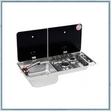 CAN FL1402 Twin Burner Hob - Left Hand Sink Combination Unit