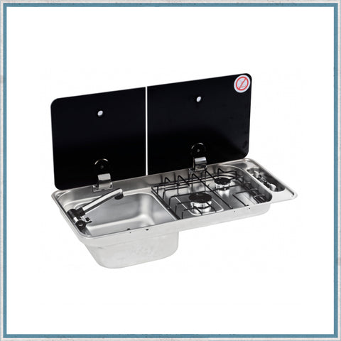 CAN FL1401 left hand campervan hob and sink unit
