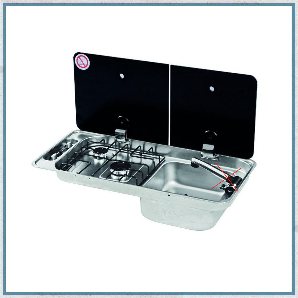 CAN FL1401 Twin Burner Hob - Right Hand Sink Combination Unit