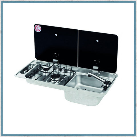 CAN FL1401 right hand campervan hob and sink unit