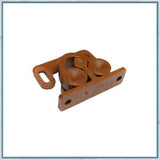 Plastic twin roller catch