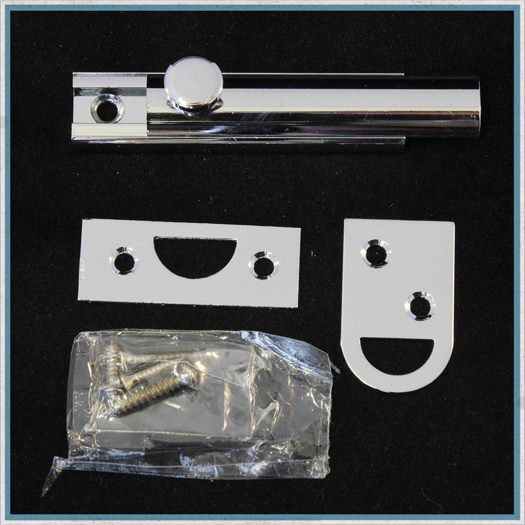 Chrome Plated Semi-circular Door Bolt