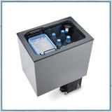 Dometic Waeco Coolmatic CB40 top-loading fridge showing internal space