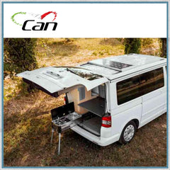 Aerial view of CAN slideout unit in VW T5