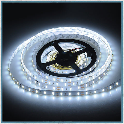 12V Cool White 5 Metre NON-Waterproof LED Lighting Strip