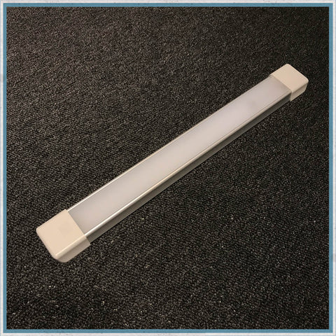 Duo LED strip light for camper vans, motorhomes and caravans. Ideal as replacements for older fluorescent interior strip lights, or in new conversions