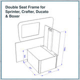 Double Seat Frame for Sprinter Crafter Ducato Boxer