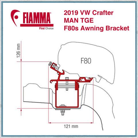 Fiamma F80S 2019 VW Crafter/MAN TGE Roof Bracket
