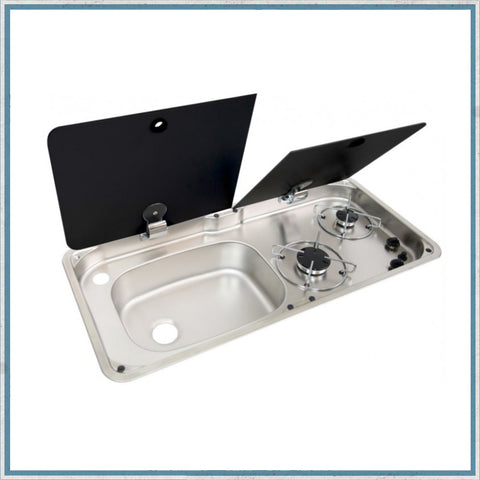 CAN 1760 hob & left hand Sink unit