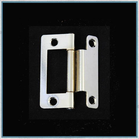 Single cranked chrome plated hinge