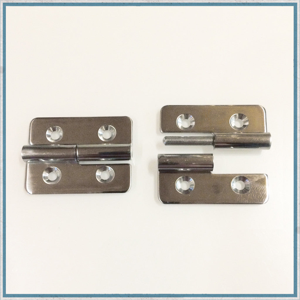 Lift-Off Polished Stainless Steel Hinge/Bracket
