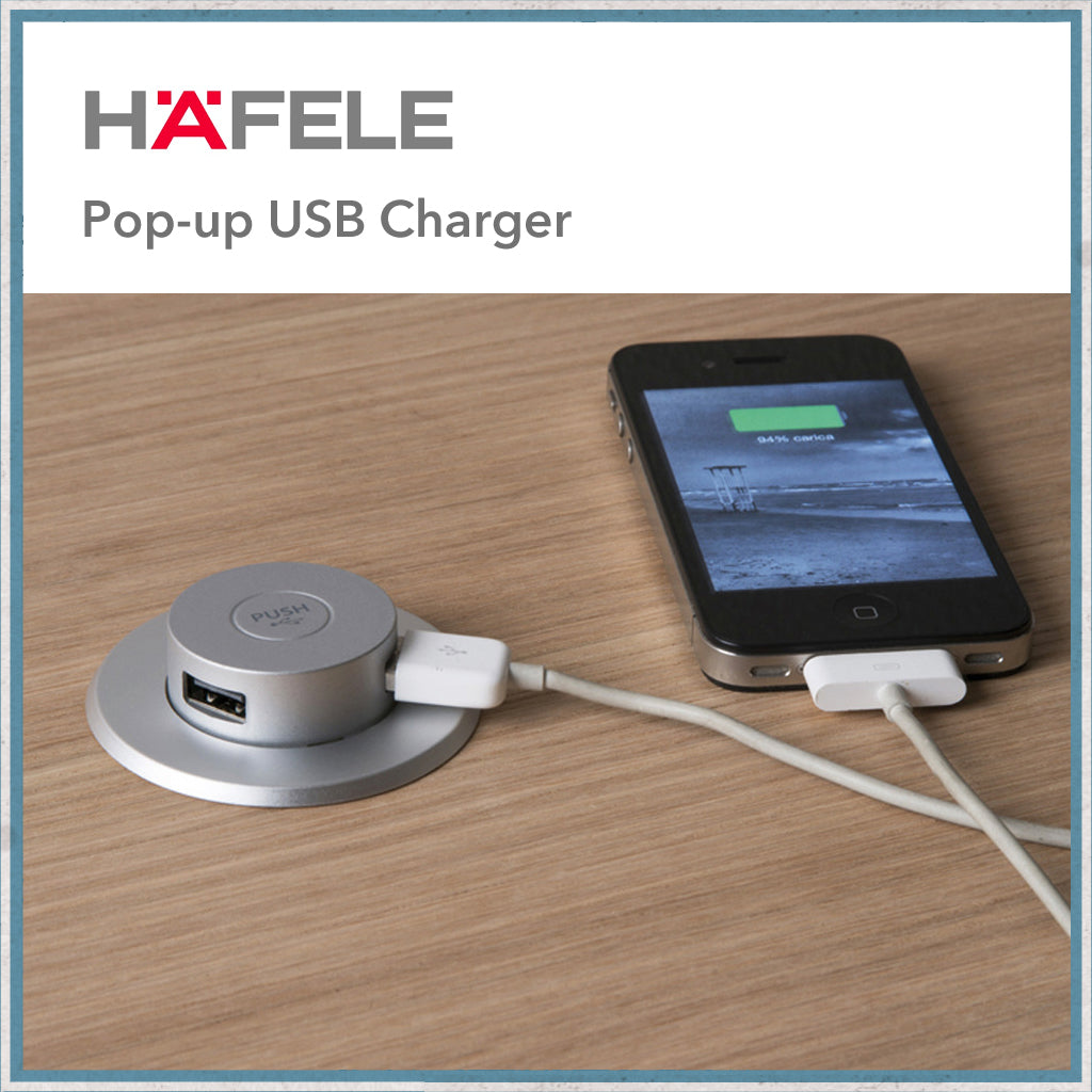 Hafele Pop-up USB charger