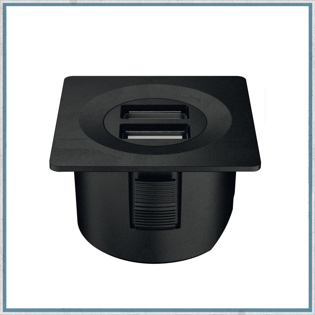 Halefe Loox black square USB charging station