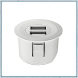 Halefe Loox white round USB charging station