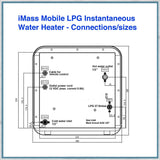 iMass Mobile LPG Instantaneous Water Heater connections