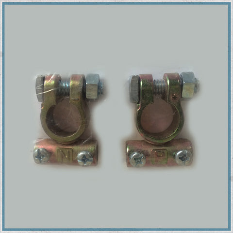 12V battery terminals (pair)