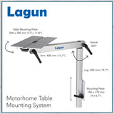 Lagun table leg sizes